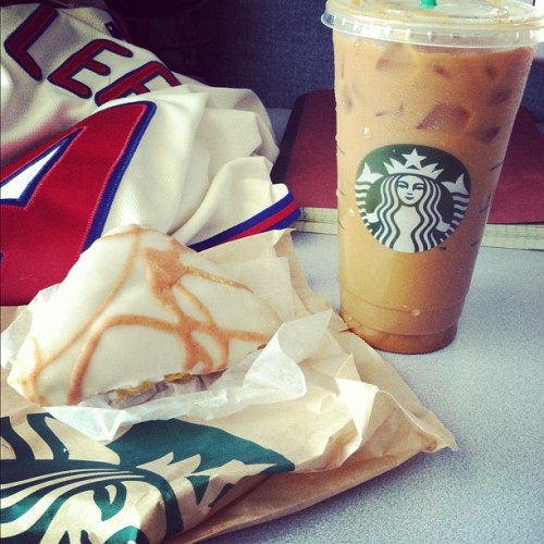 #pumpkin on pumpkin on #phillies. @starbucks #psl  (Taken with Instagram at Abramson Research Center)