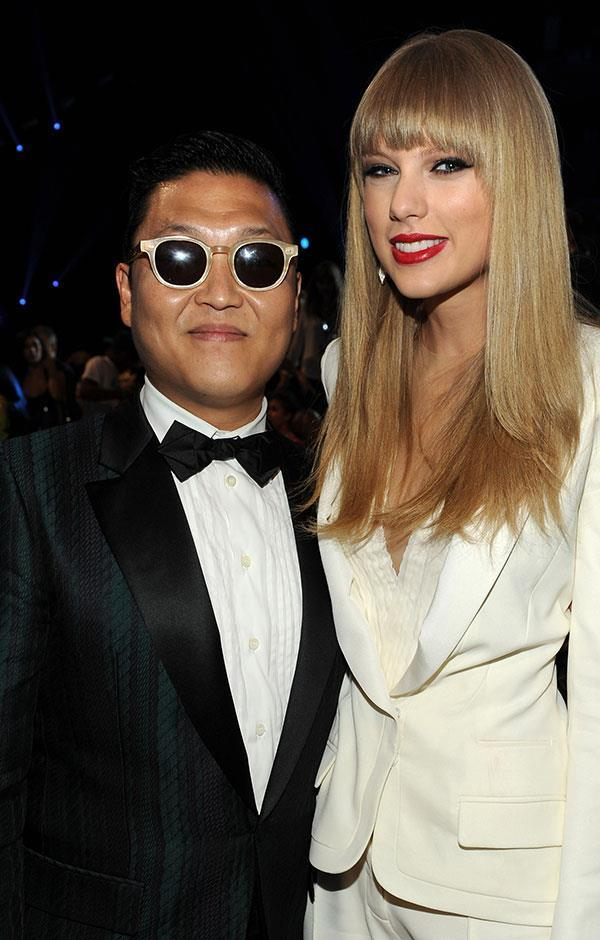 ygfamilyy:  PSY with Taylor Swift - Backstage @ 120906 MTV VMA!  Source: PictureGroup
