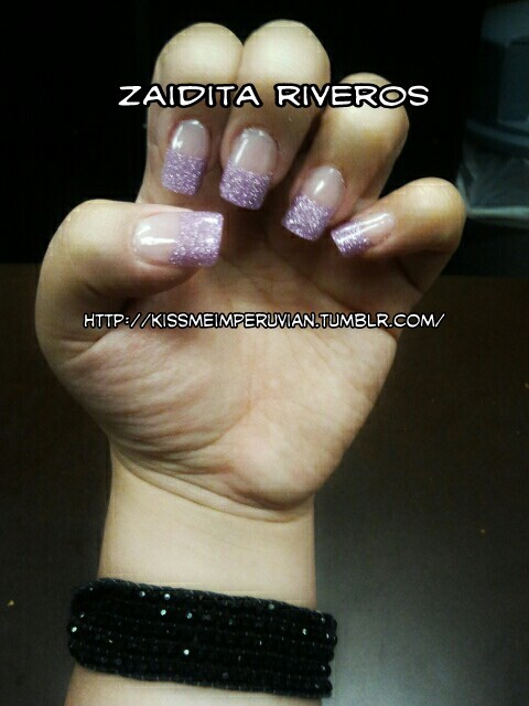 Glitter tips  Model: myself By: me, zaidita riveros