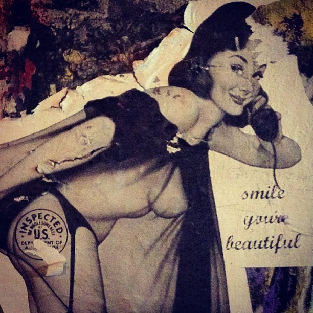 #smile #you're #beautiful #USDA #inspected #pinup #woman  (Taken with Instagram)