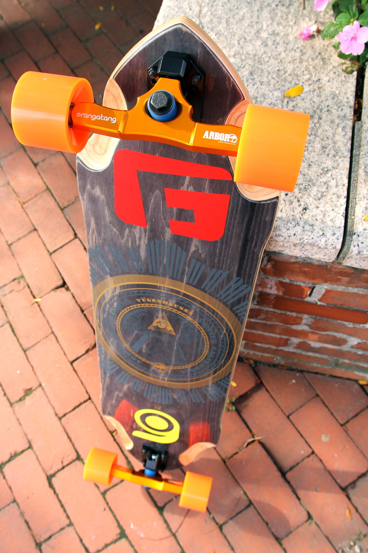 "Vugenhausen 38"" on custom engraved Surf-Rodz RKPs and 80a 4prez wheels. This beauty finds a new home today at 1pm!"