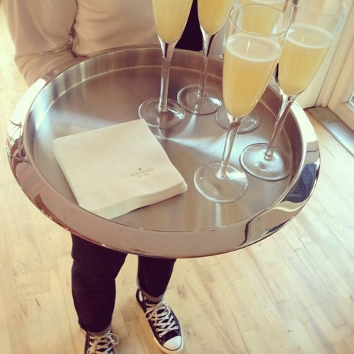 Bellinis for breakfast @katespadeny ;) (Taken with Instagram)