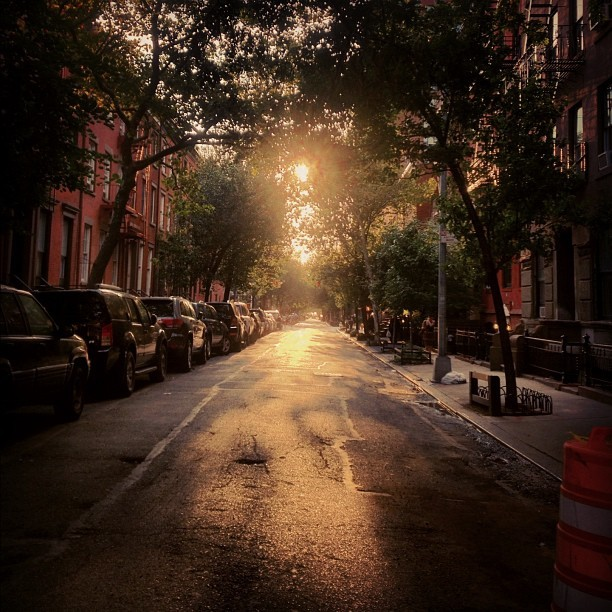 Jane Street, West Village. #westvillage #nyc #sunset #goldenhour (Taken with Instagram at Tavern on Jane)