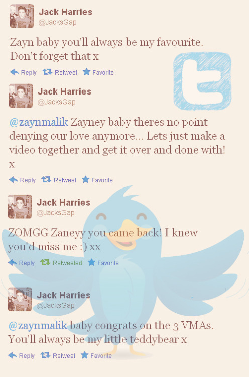 jack sweet tweet to zayney aka his baby