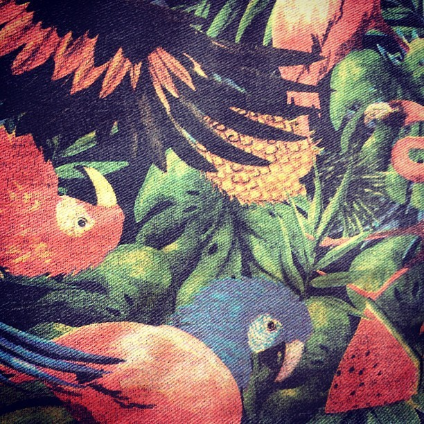 Feeling tropical #fabric #spring13 #insight #womenswear #denim (Taken with Instagram)