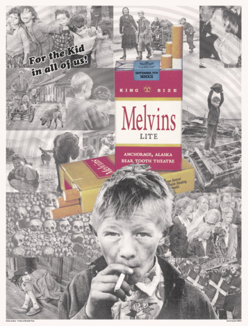 Poster for the Melvins' recent show in Anchorage, Alaska.