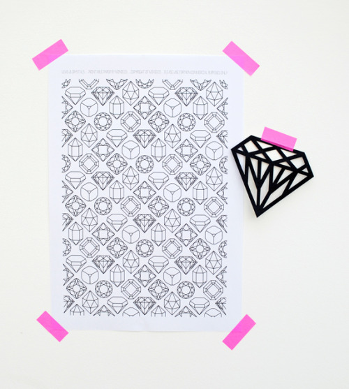 (via gems & crystals // printable paper | Mini-eco)