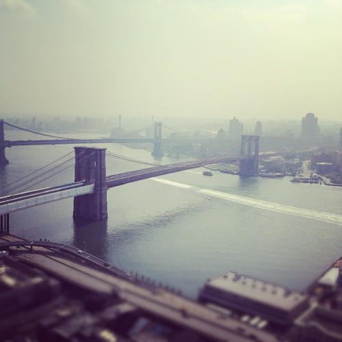 Morning fog over the East River. #nyc  (Taken with Instagram)