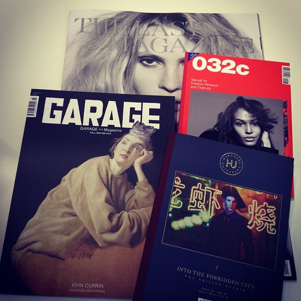 New magazines!  THE LAST MAGAZINE issue#09 Fall 2012.  GARAGE n•3 Fall/Winter 2012.  032C manual for freedom, research and creativity.  HERCULES UNIVERSAL issue III- vol II Fall/ Winter 2012-13.  #colette #colettstore #thelastmagazine#garage#032c#hercules universal (Pris avec Instagram)