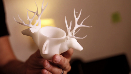 Hold Your Ideas in Your Hands with Shapeways 3D Printing : The Deer Cup on Flickr.