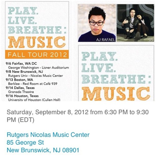 Jersey! Go to the show tomorrow! Special guests Jenny Suk and Mitchell Grey (Taken with Instagram)