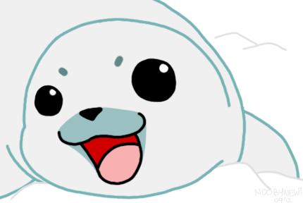 kangaroochan:  My friend told me to get off Tumblr. So I drew her a baby seal.