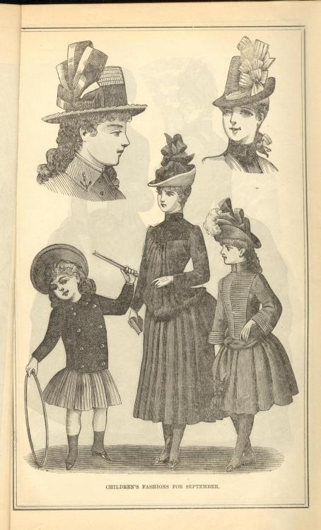 Children's Fashions for Fall, Peterson's Magazine, September 1887