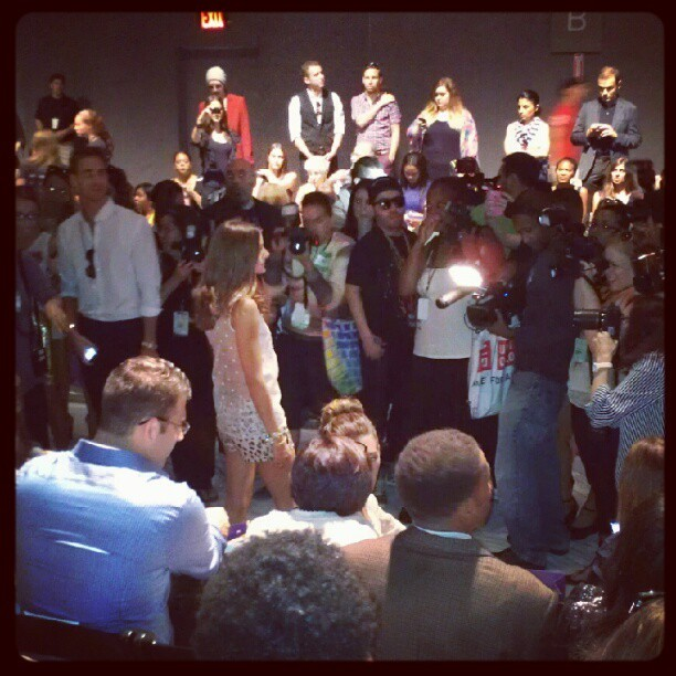 Olivia Palermo swarmed. #nyfw #noonbynoor (Taken with Instagram)