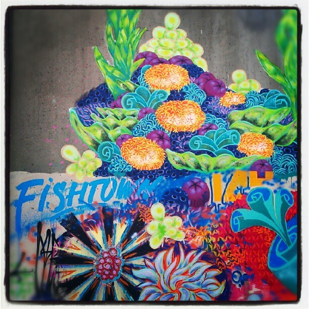 This is #Fishtown. #Philly #streetart #urban #graffiti #colorful #urbanart #city  (Taken with Instagram)