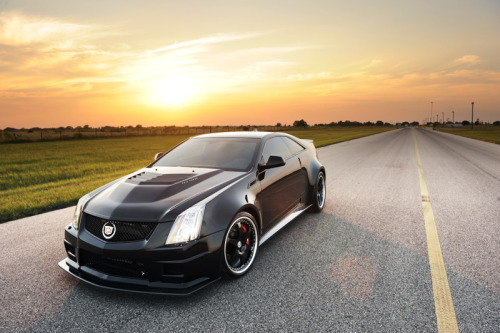 topgear:  The Hennessey VR1200 Twin Turbo Cadillac CTS V Coupe. Think of it as a Venom GT with softer leather seats.  On a scale of one to David Bowie, how cool is the Hennessey Caddy Coupey?