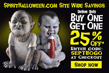 Spirit Halloween 25% Off Coupon.
