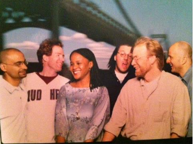Check out this old polaroid courtesy of George Saunders (and via Hari Kunzru's twitter  @harikunzru) -  a 1999 20 under 40 photo shoot. Can you name all 6 authors?