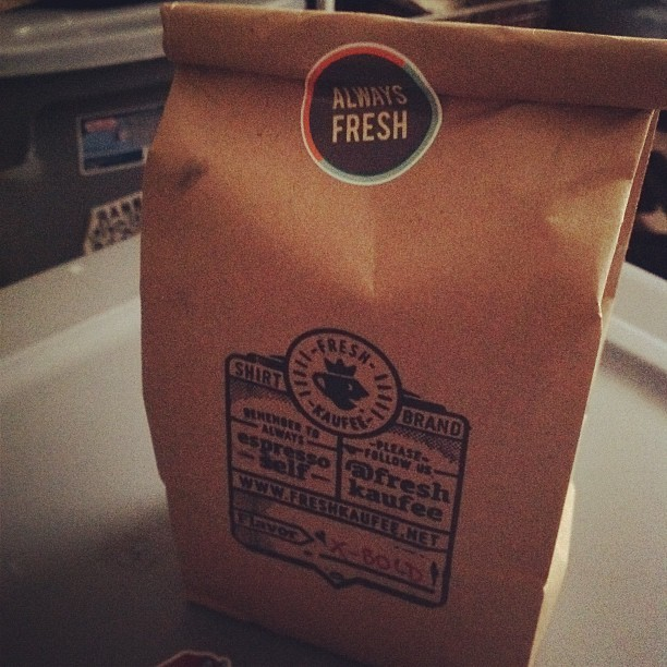 Mail time! 😁☕ #packaging #stamp #freshkaufee #logo #coffee  (Taken with Instagram)