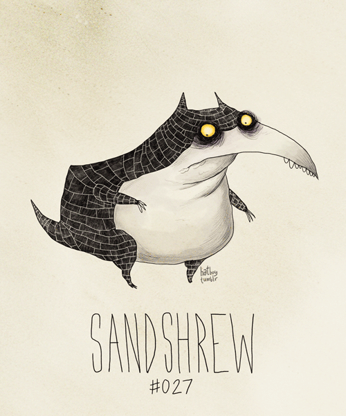 Sandshrew #027 (Tim Burton Inspired Pokemon Re-Design) Hi guys, I have to go on a hike this weekend for a class. So you guys won't see a post for 2 days. But as Mr. Schwarzenegger said too many times in the Expendables 2, I'll be back. And he was back. You go Glenn Coco! In the meantime, have a Sandshrew inspired by the concept art Tim Burton made for The Black Cauldron. Remember The Black Cauldron? No? Well, it did concern many parents when it came out for being too scary for children. So not a lot of kids saw it. Haha!