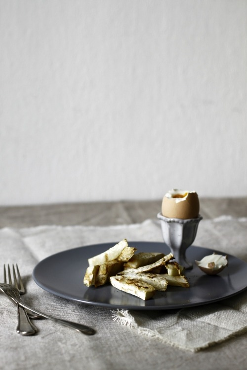 "Eggs and celeriac — simple, filling, and gorgeously photographed, thanks to ""a p,"" the bloggers behind A Tale of Two.  Read more: A Tale of Two (Ingredients!) from Food52 via A Tale of Two"