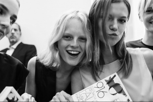 hanne gaby & kasia struss at calvin klein, fashions night out nyc.