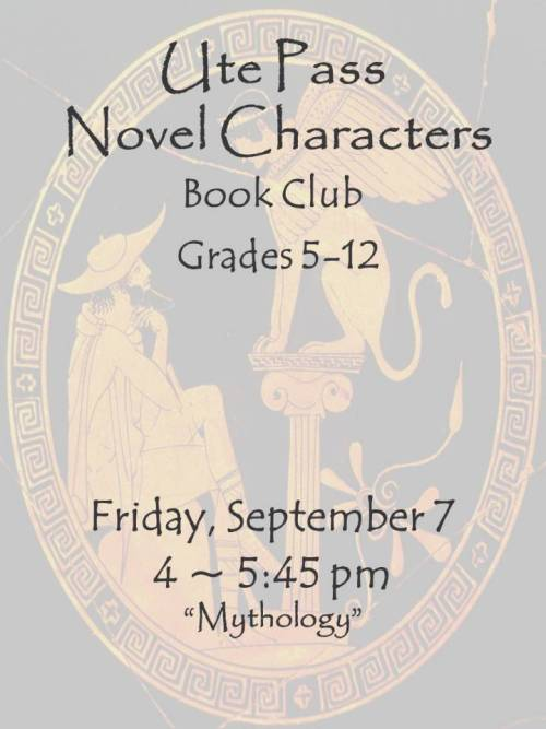 Ute Pass Library Novel Characters Book Club Meets Today at 4!