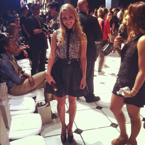 AnnaSophia Robb front row at Jason Wu Photographed by Jane Keltner de Valle