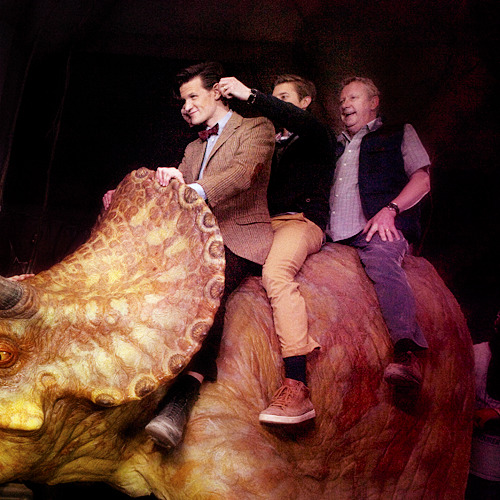 brittanias:  hey arthur, what did you do at work today? 'rode a dinosaur and made matt's ears look like a triceratops.' [x]