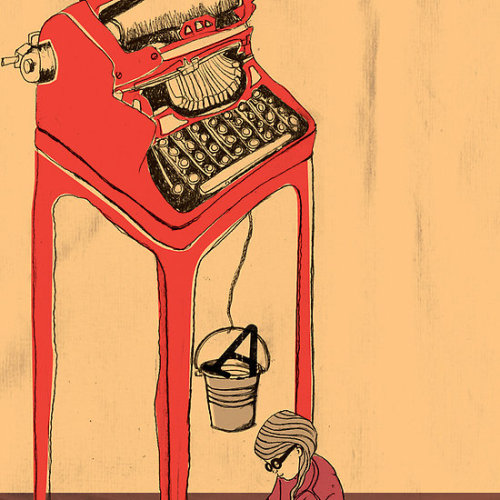 """The Type Writer"" by Tanya Cooper Available on RedBubble"