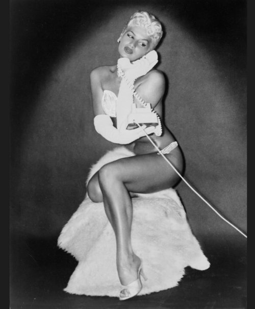 Beautiful burlesque artiste Bambi Jones