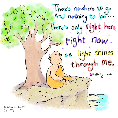 Buddha Doodle - 'Shine'by Mollycules♥ please share ♥Enjoy Buddha Doodles daily!