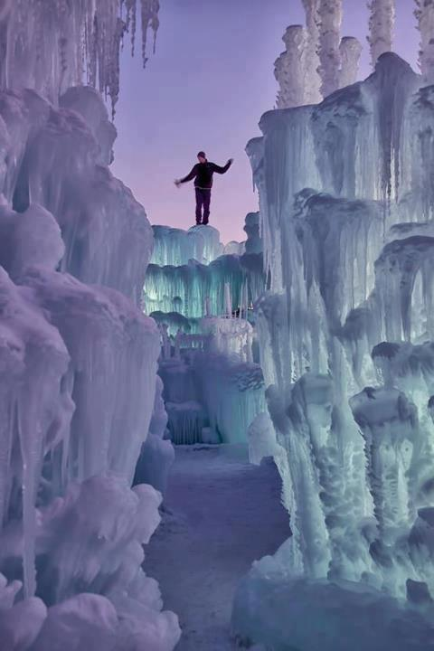 Ice Castle in Silverthorne, CO. Winter is coming. (Photo Kristal Kraft)