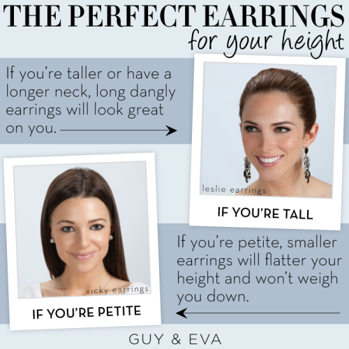 Find the perfect earrings for your height with today's style tip!
