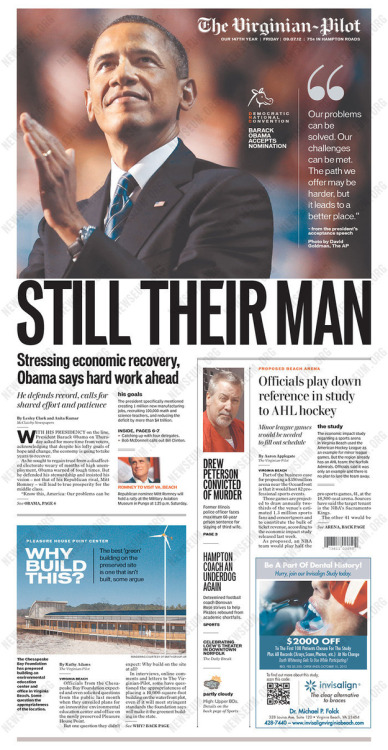 Obama…In Swing State Newspapers…   much more, here.