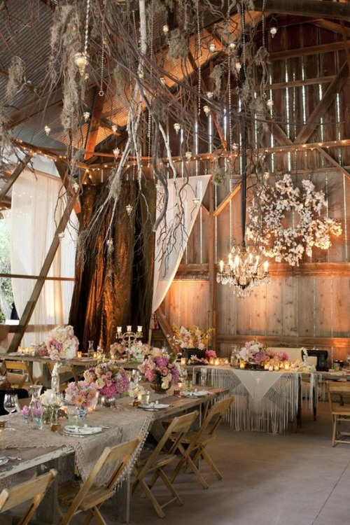 Rustic barn set-up!