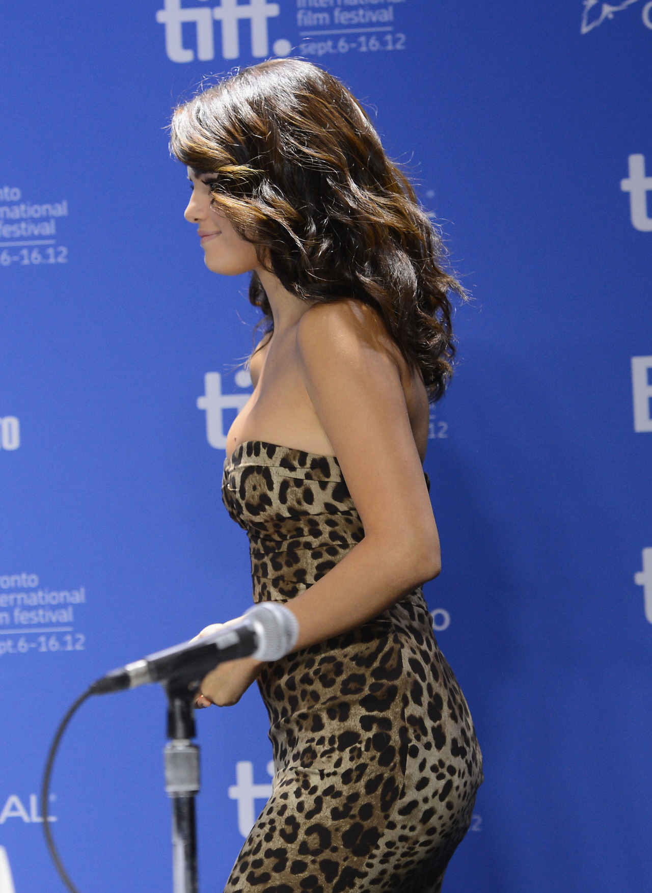 Selena Gomez at the TIFF press conference for Spring Breakers, September 7th
