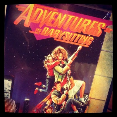 Tonight's movie #AdventuresInBabysitting  (Taken with Instagram)