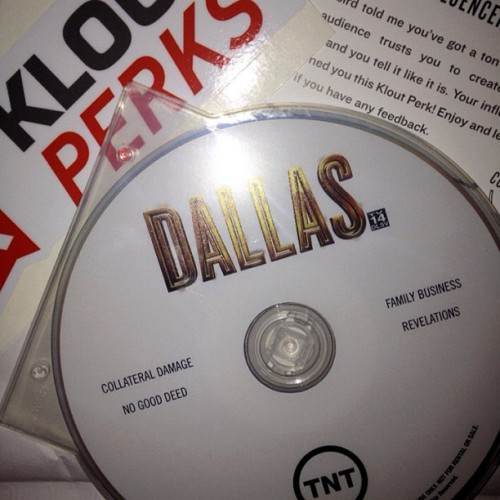 Dallas Klout Perk: Bonus DVD #dallastnt #dallas_tnt #Dallas #klout #kloutperks  (Taken with Instagram)