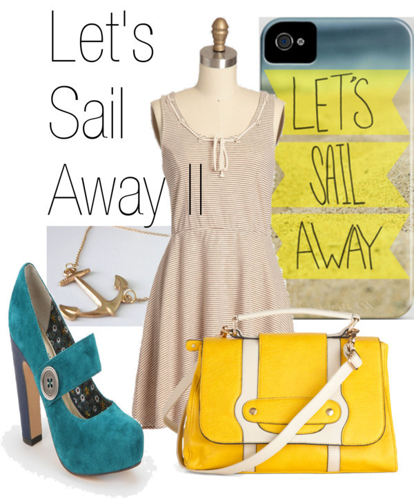 Inspired by Leah Flore's Let's Sail Away II iPhone case on society6.
