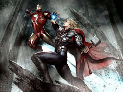 Iron Man vs. Thor, Avengers concept art