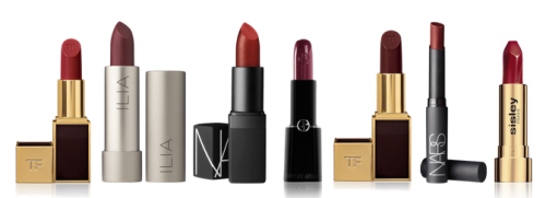 Ask A Stylist | Fall Lipstick Trends  What's the hot lipstick for this fall? What does it look best with, and where should we skip it? —Zina, Santa Monica, CA  We asked one of our CakeStylists, Lory, to answer this great question. Here's her response:  For this fall, we're seeing a lot of wine red shades - it's toned down from the bright reds and oranges for the summer, but still a bold statement look. With lipstick, we'd recommend avoiding matching your lipstick to your clothes. Sure, if you're wearing a black lace top with wine red accents, that's fine - but don't wear wine red lipstick and wine red skinny jeans. Never get too matchy-matchy! We also recommend avoiding pairing your lipstick with a piece it clashes with - so, with wine red, don't pair it with a bright orange cardigan.  Check out the collection of varying shades and hues of wine red lipstick we collected above! Wine red varies a lot - it can simply be a darker shade of hot red (which is still very bright), or it can look pretty close to a brownish-red or brick red. Check out this great piece by DailyCandy to learn how to choose the best red lipstick for your skin tone (but also remember that these rules aren't strict - wear whatever you feel fabulous in!). *** Do you have a style question that only a CakeStylist could answer! Ask us anything at questions@cakestyle.com!