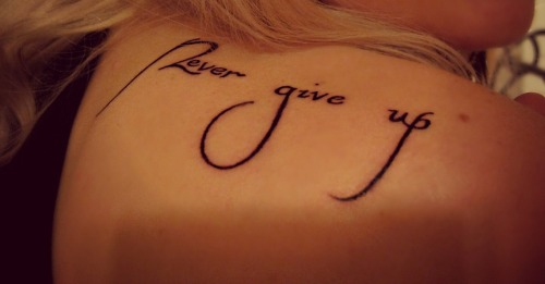 My ink says it all <3