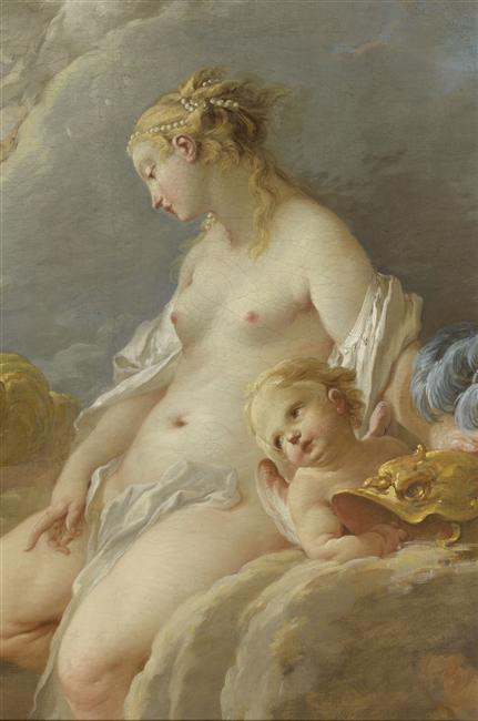 a-l-ancien-regime:  Venus asking Vulcan  weapons  for Aeneas Boucher François (1703-1770) 1732 oil on canvas Paris, musée du Louvre
