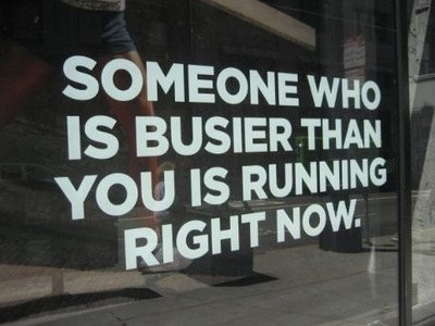 "Truth. Being ""busy"" is never an excuse! #getfit"