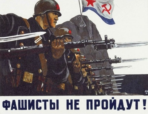 "fuckyeahwwiipropaganda:   ""The fascists will not pass!""  source"