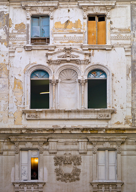 Italian colonial building in Tripoli - Libya by Eric Lafforgue | via evysinspirations