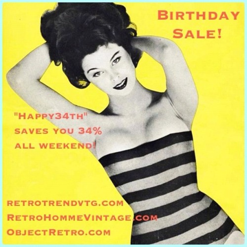 Outrageously big discounts to celebrate my old age. #vintage #sale  (Taken with Instagram)