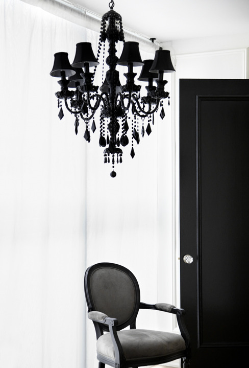Black Onyx Chandelier - Photography Friday (via pushforwardartistmedia.com)