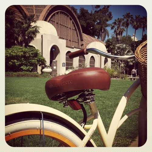 Biking in Balboa park (Taken with Instagram at Botanical Building & Lily Pond)